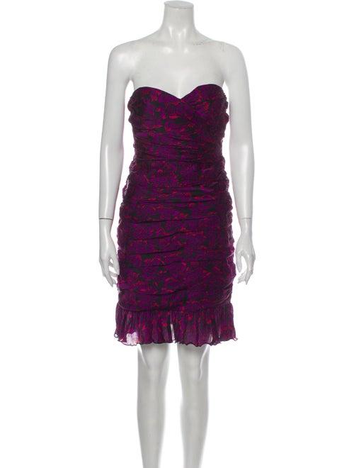 Jill Stuart Strapless Mini Dress Purple