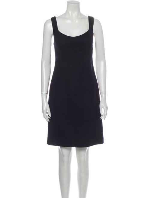 Jill Stuart Scoop Neck Mini Dress Blue