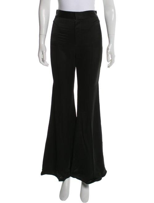 Jill Stuart High-Rise Flared Pants Black