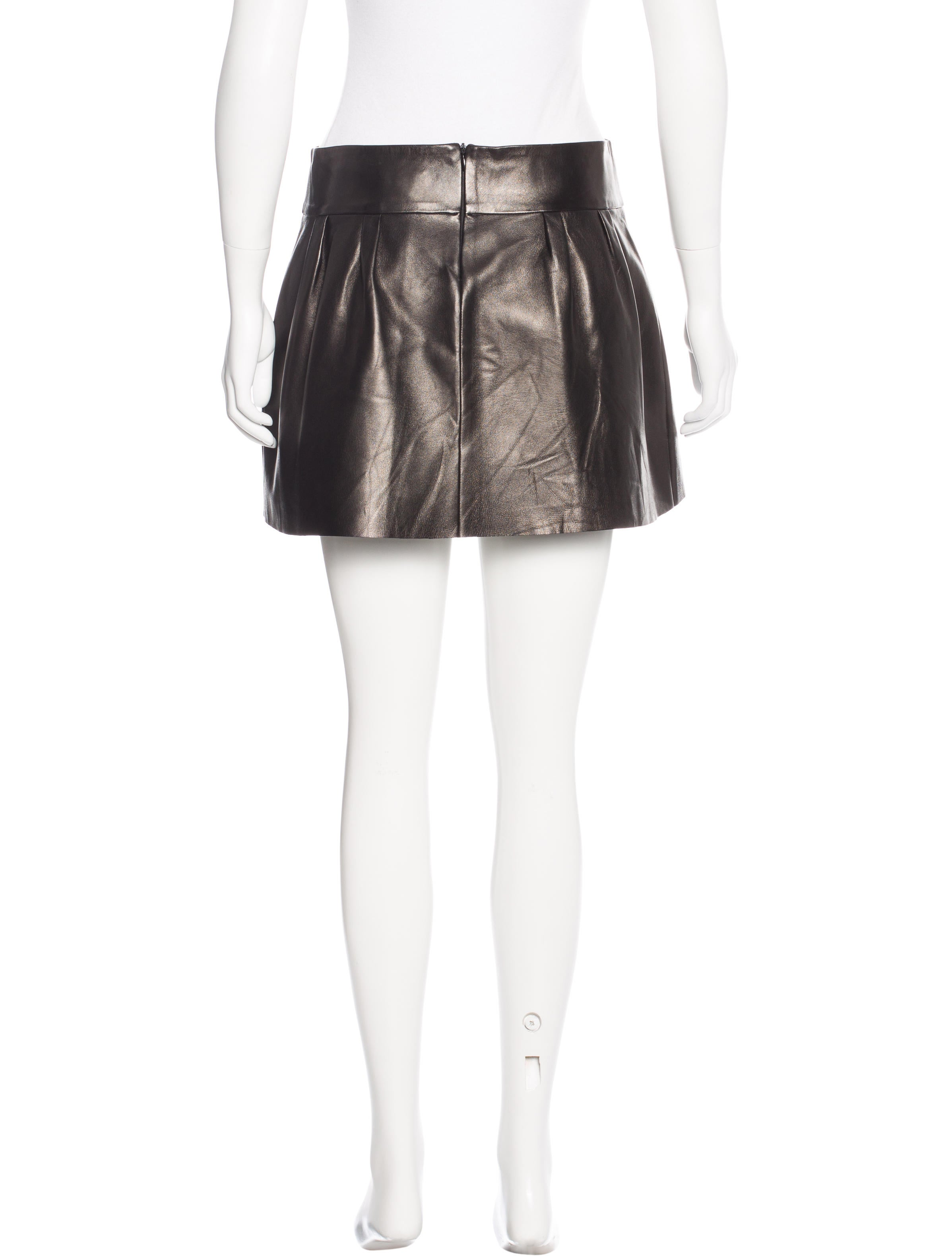 jitrois leather mini skirt clothing jit20082 the