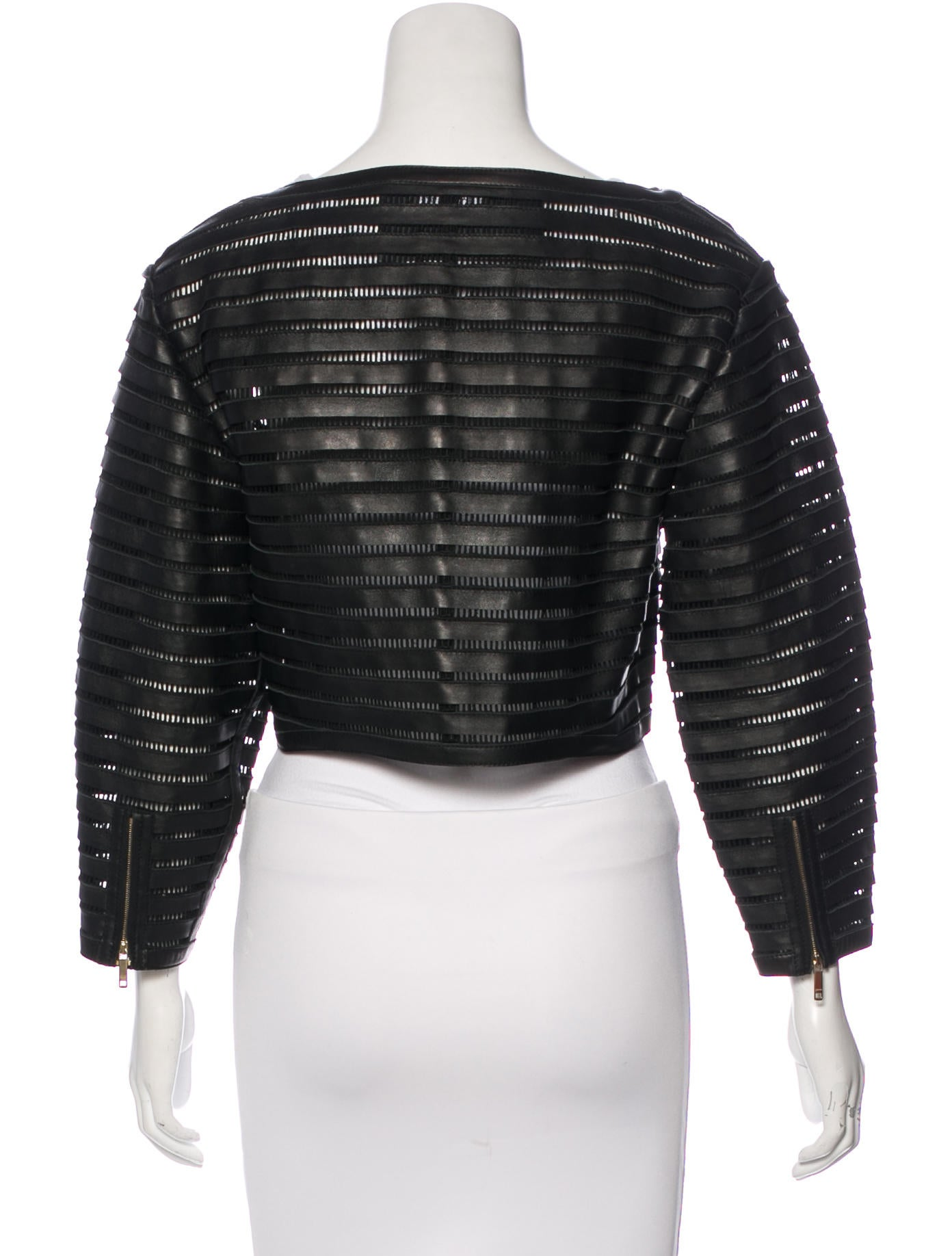 Jitrois Leather Crop Jacket Clothing Jit20117 The