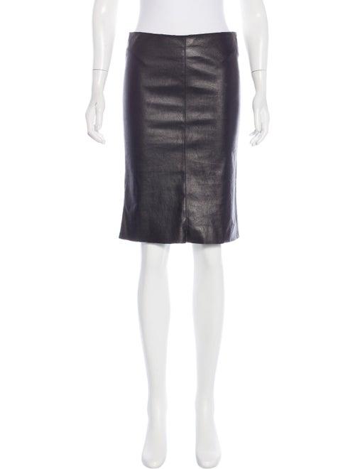 Jitrois Leather Pencil Skirt Black