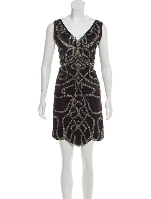 Jitrois Embellished Sleeveless Dress Black
