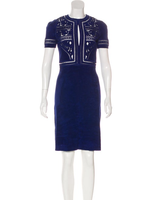 Jitrois Embroidered Suede Dress