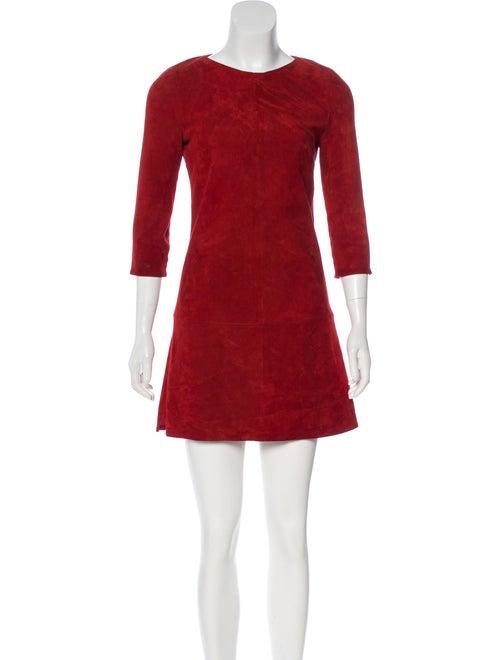 Jitrois Suede Mini Dress red
