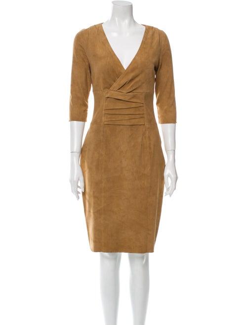Jitrois Leather Knee-Length Dress