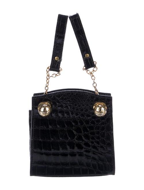 Jitrois Alligator Belt Bag Black
