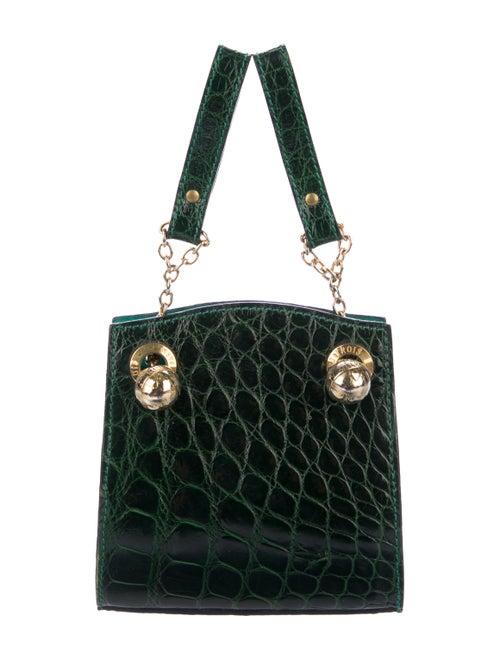 Jitrois Crocodile Belt Bag green