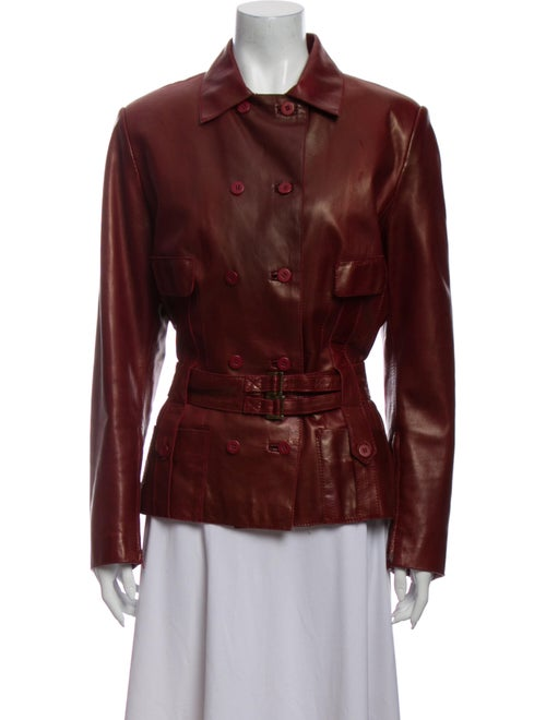 Jitrois Leather Evening Jacket Red