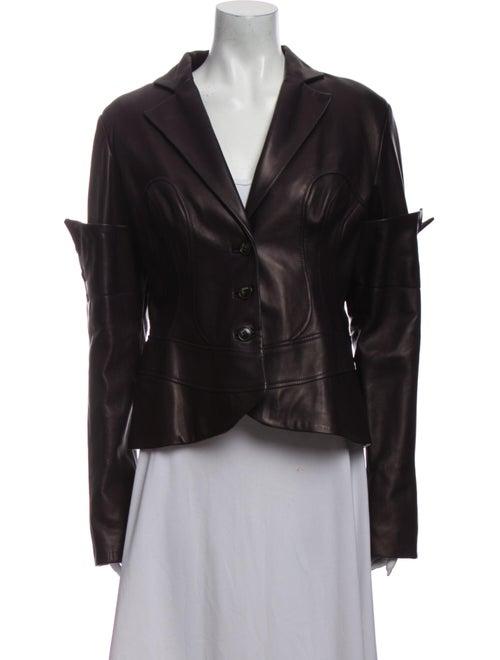 Jitrois Leather Blazer Purple