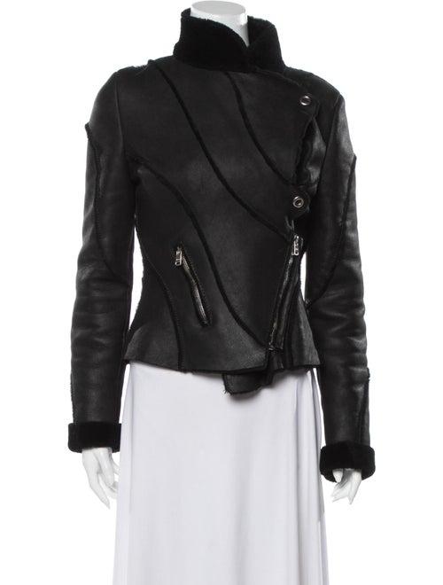 Jitrois Shearling Biker Jacket Black