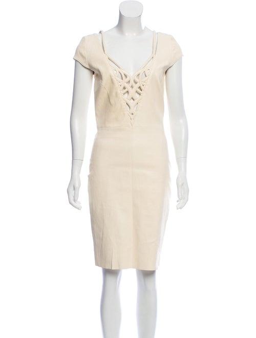 Jitrois Knee-Length Leather Dress