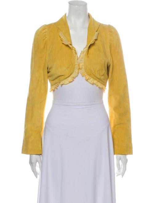 Jitrois Leather Bolero Yellow