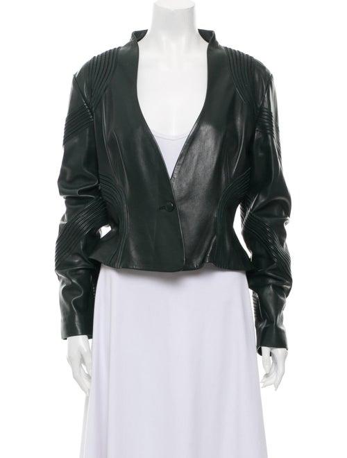 Jitrois Leather Jacket Green - image 1