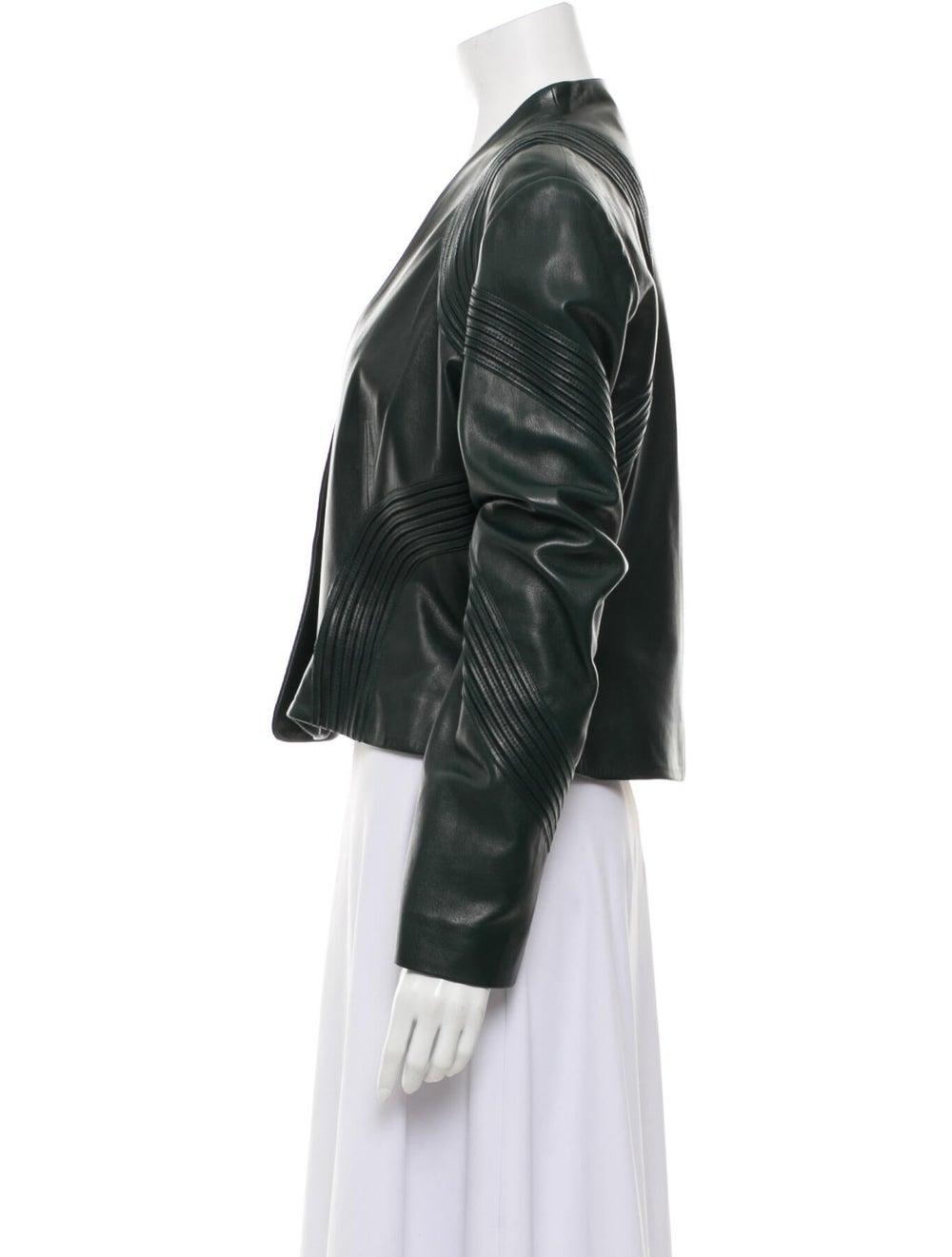 Jitrois Leather Jacket Green - image 2