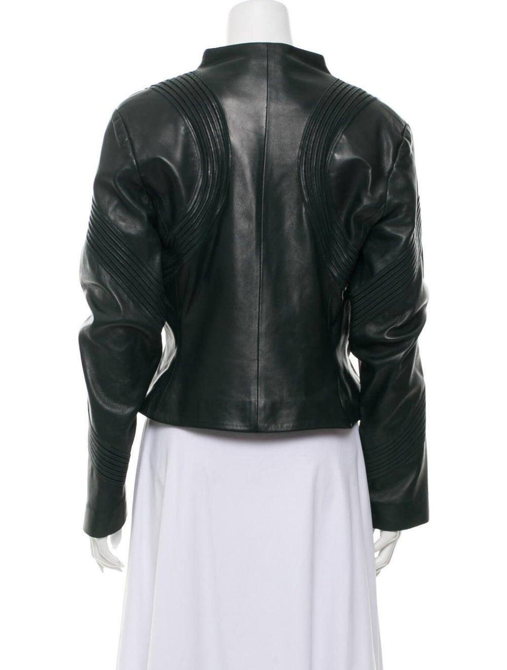 Jitrois Leather Jacket Green - image 3