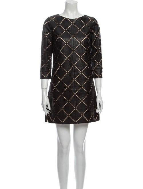 Jitrois Printed Mini Dress Black