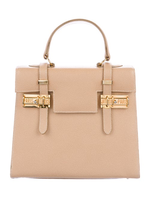Jitrois Leather Structured Bag Gold