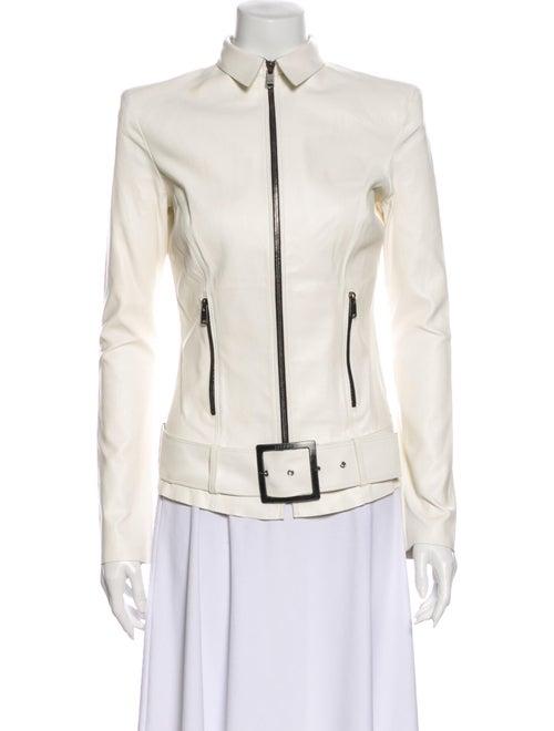 Jitrois Lamb Leather Jacket White