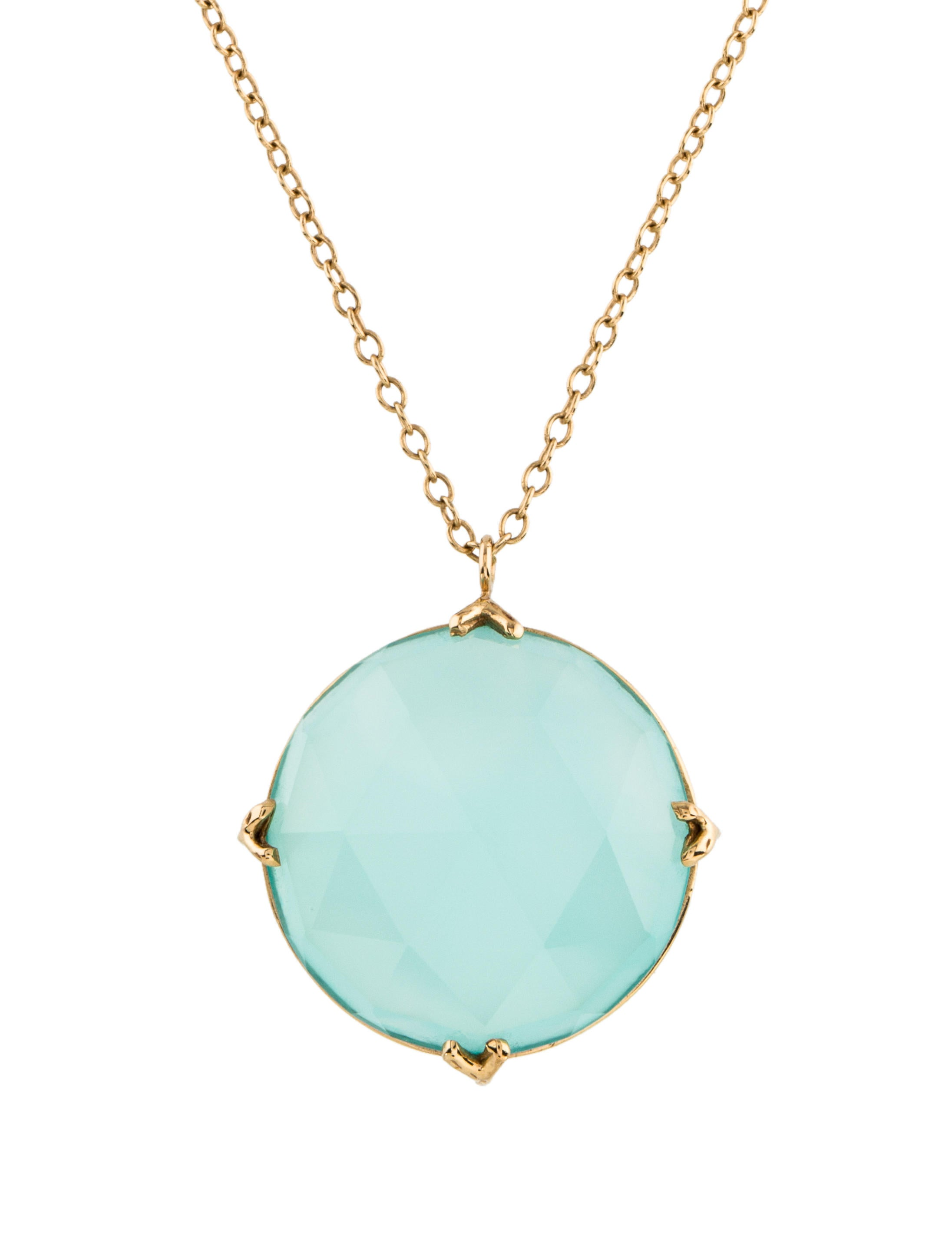 aqua brooklyn gold chalcedony auree necklace jewellery pendant vermeil and