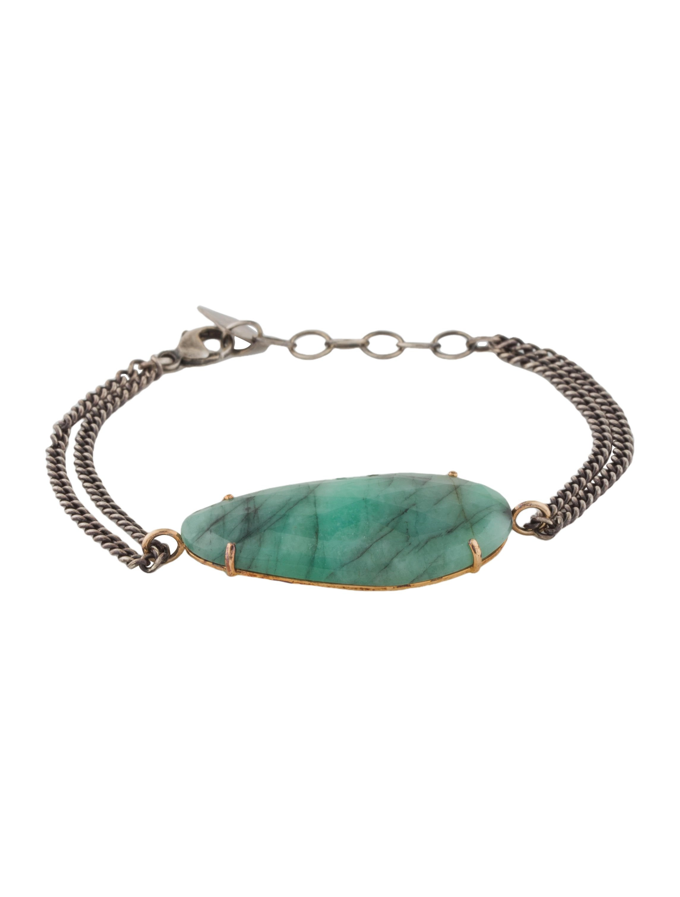 diamond baguette emerald bracelet