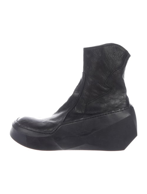 Julius Leather Ankle Boots black