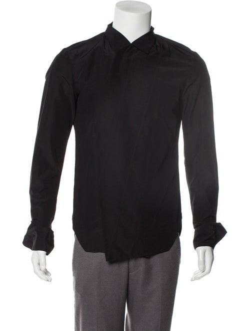 Julius Linen-Blend Asymmetrical Shirt black
