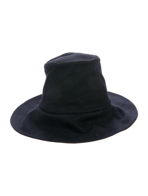Janessa Leone Canvas Fedora Hat Black