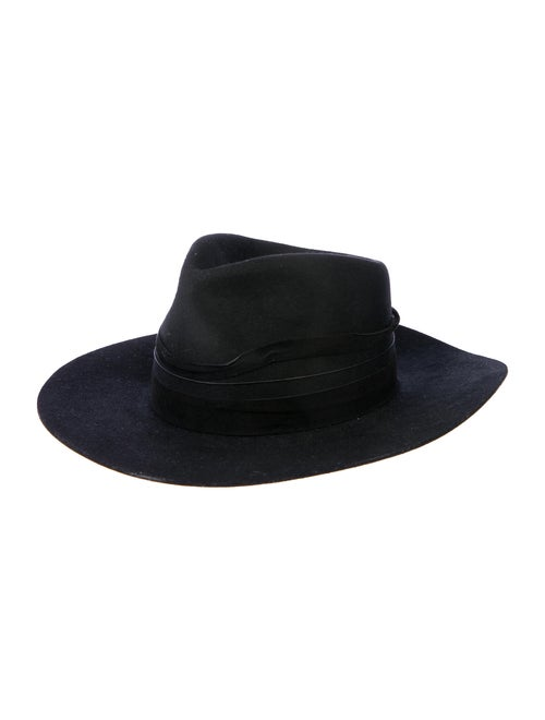 Janessa Leone Wool Fedora Hat Black