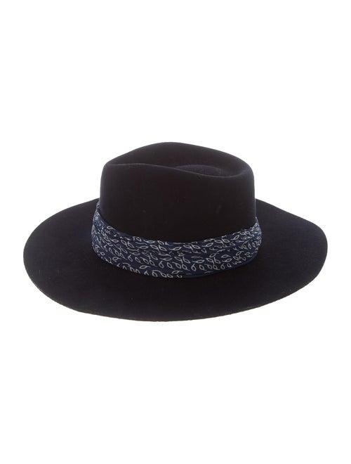 Janessa Leone Wool Fedora Hat blue