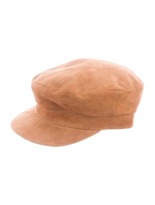 Janessa Leone Jimi Newsboy Hat Brown