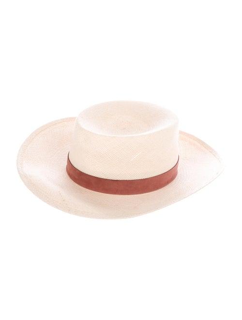 Janessa Leone Straw Wide Brim Hat