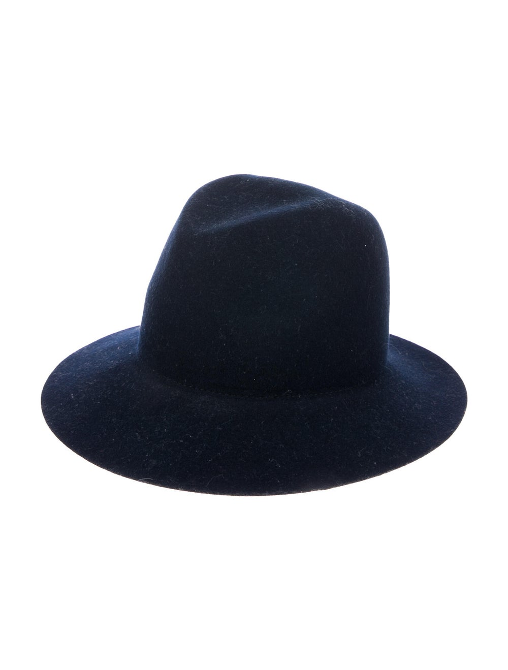 Janessa Leone Felt Fedora Hat Navy - image 1
