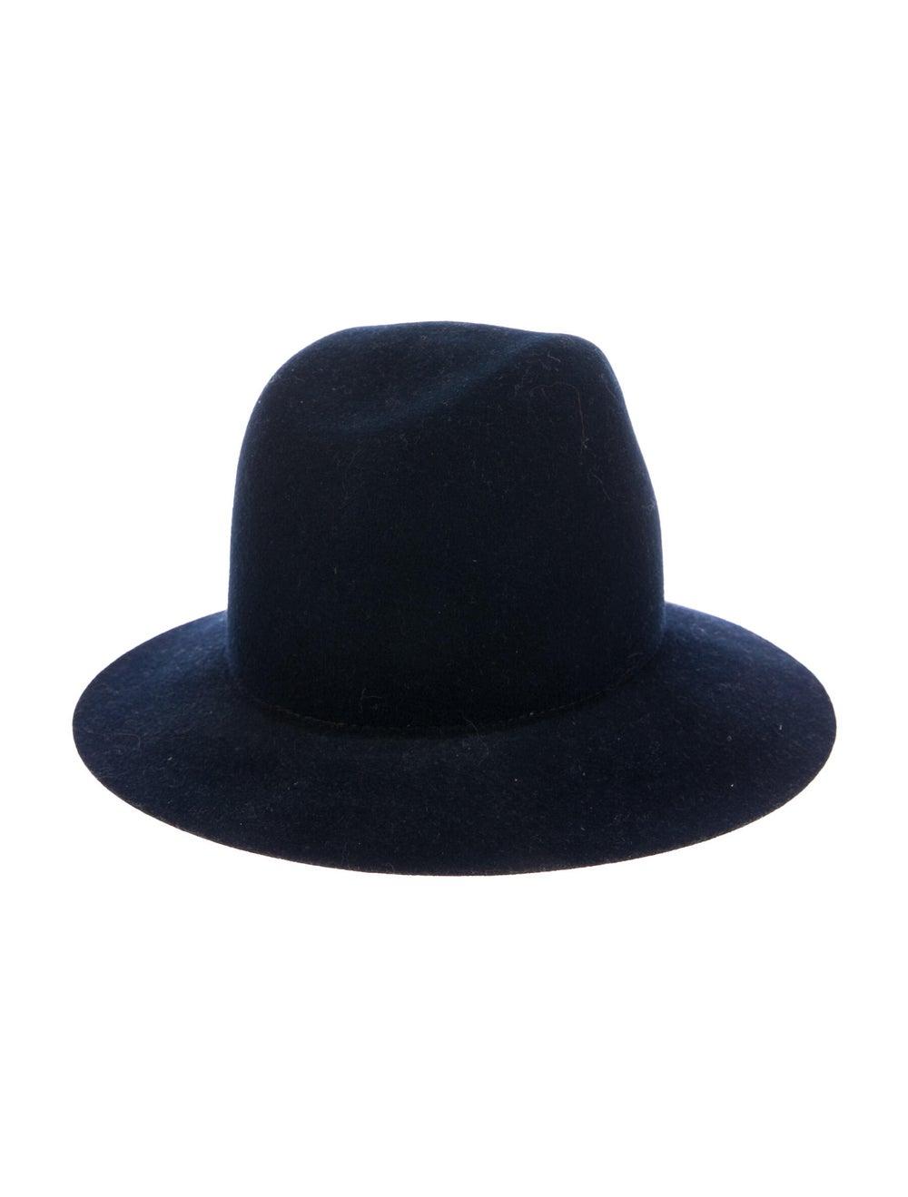 Janessa Leone Felt Fedora Hat Navy - image 2