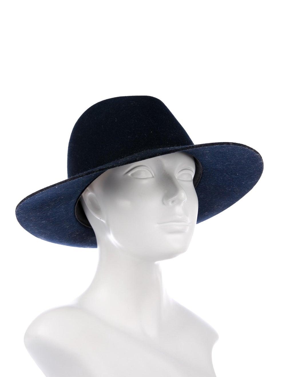 Janessa Leone Felt Fedora Hat Navy - image 3