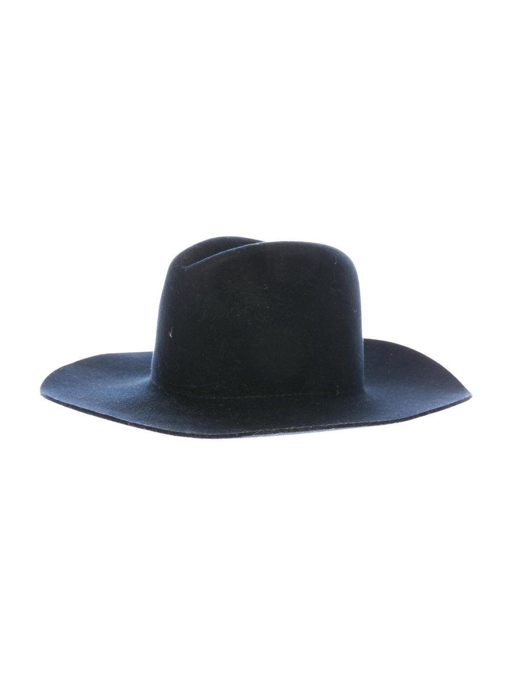 Janessa Leone Wool Fedora Hat Navy - image 1