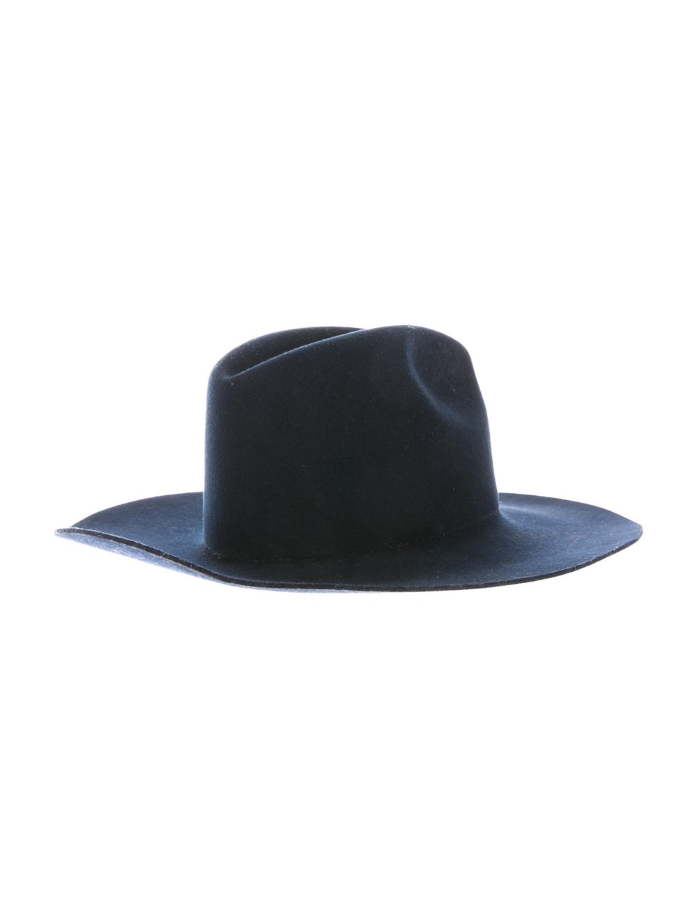 Janessa Leone Wool Fedora Hat Navy - image 2