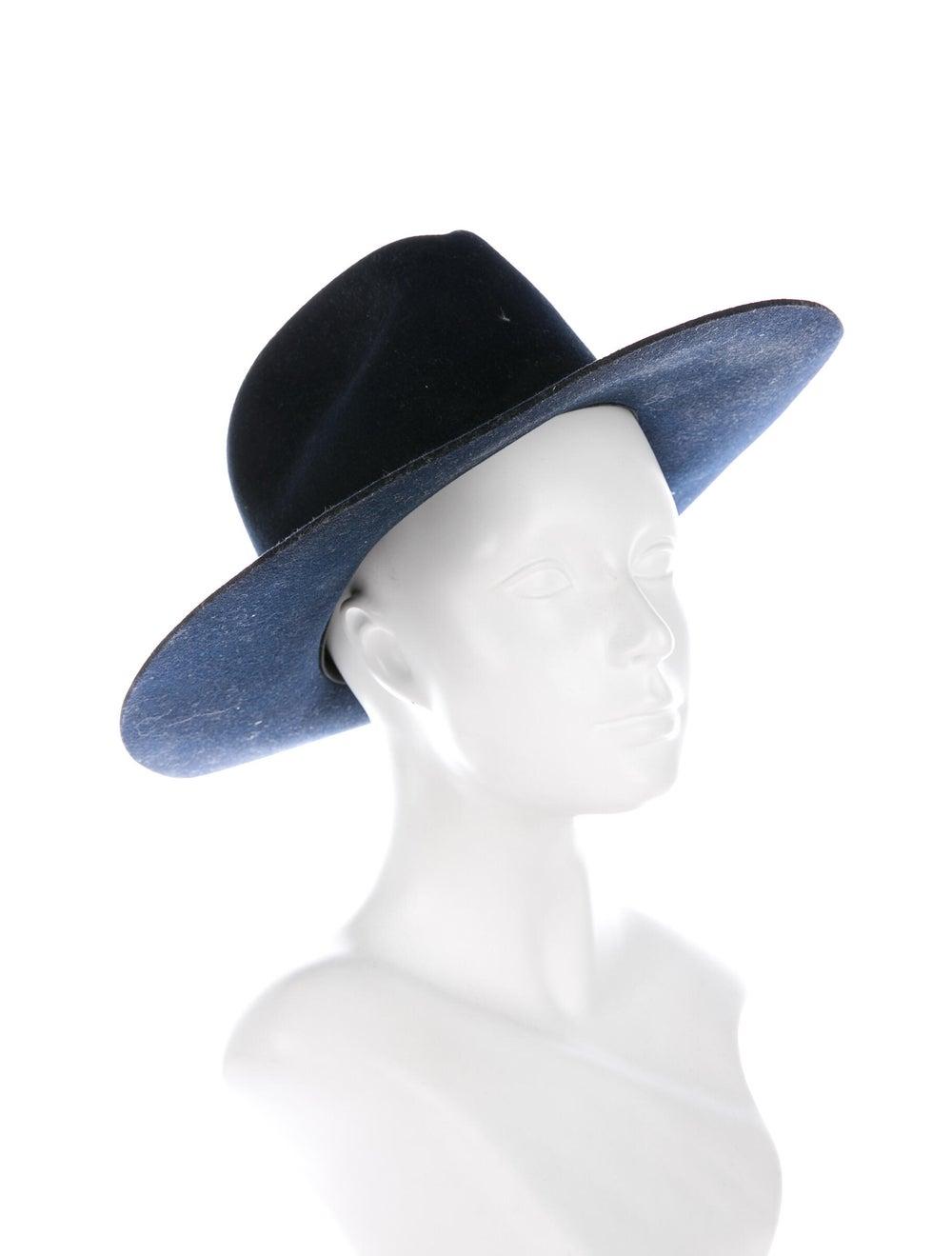 Janessa Leone Wool Fedora Hat Navy - image 3