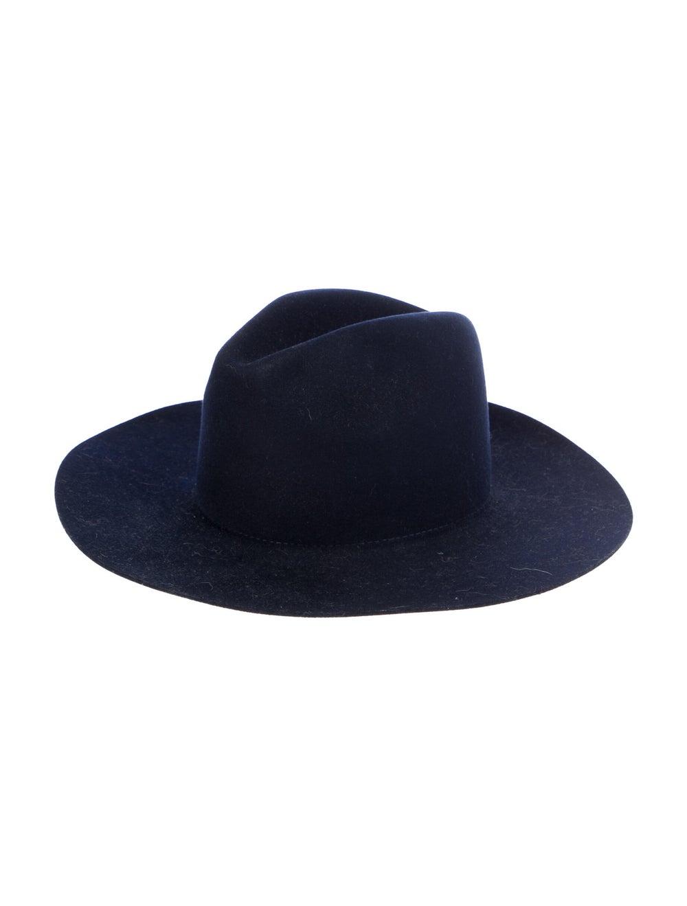 Janessa Leone Wool Wide Brim Hat Navy - image 1