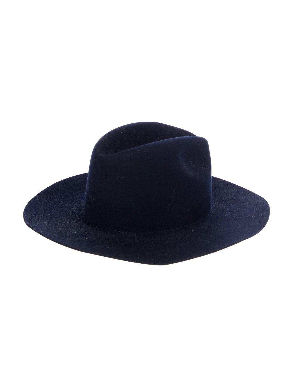 Janessa Leone Wool Wide Brim Hat Navy - image 2