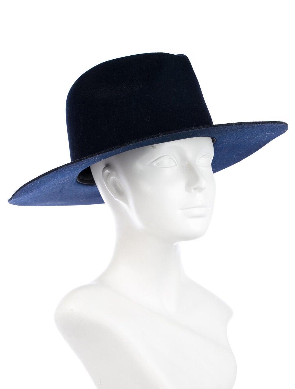 Janessa Leone Wool Wide Brim Hat Navy - image 3
