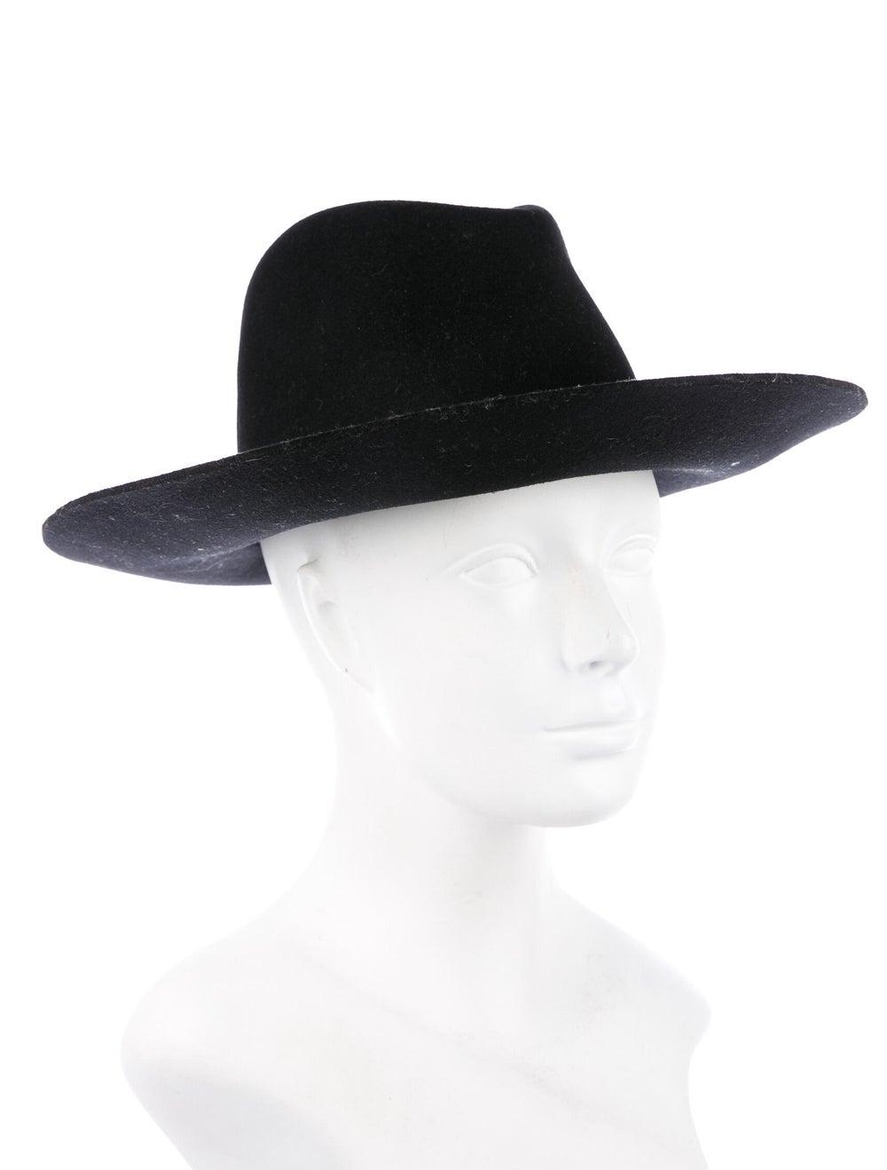 Janessa Leone Janessa Leone Wool Wide Brim Hat Bl… - image 3