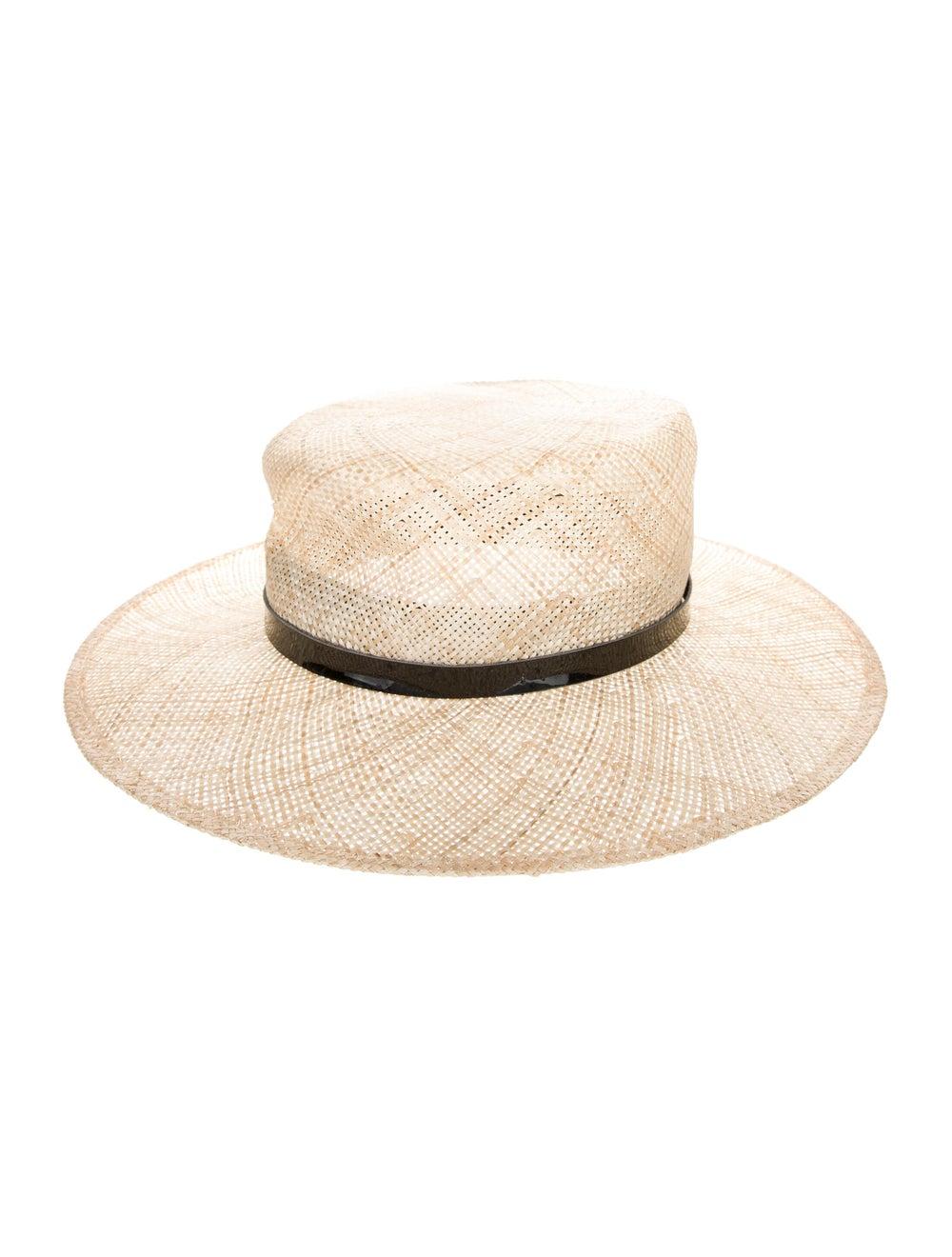Janessa Leone Straw Hat black - image 1