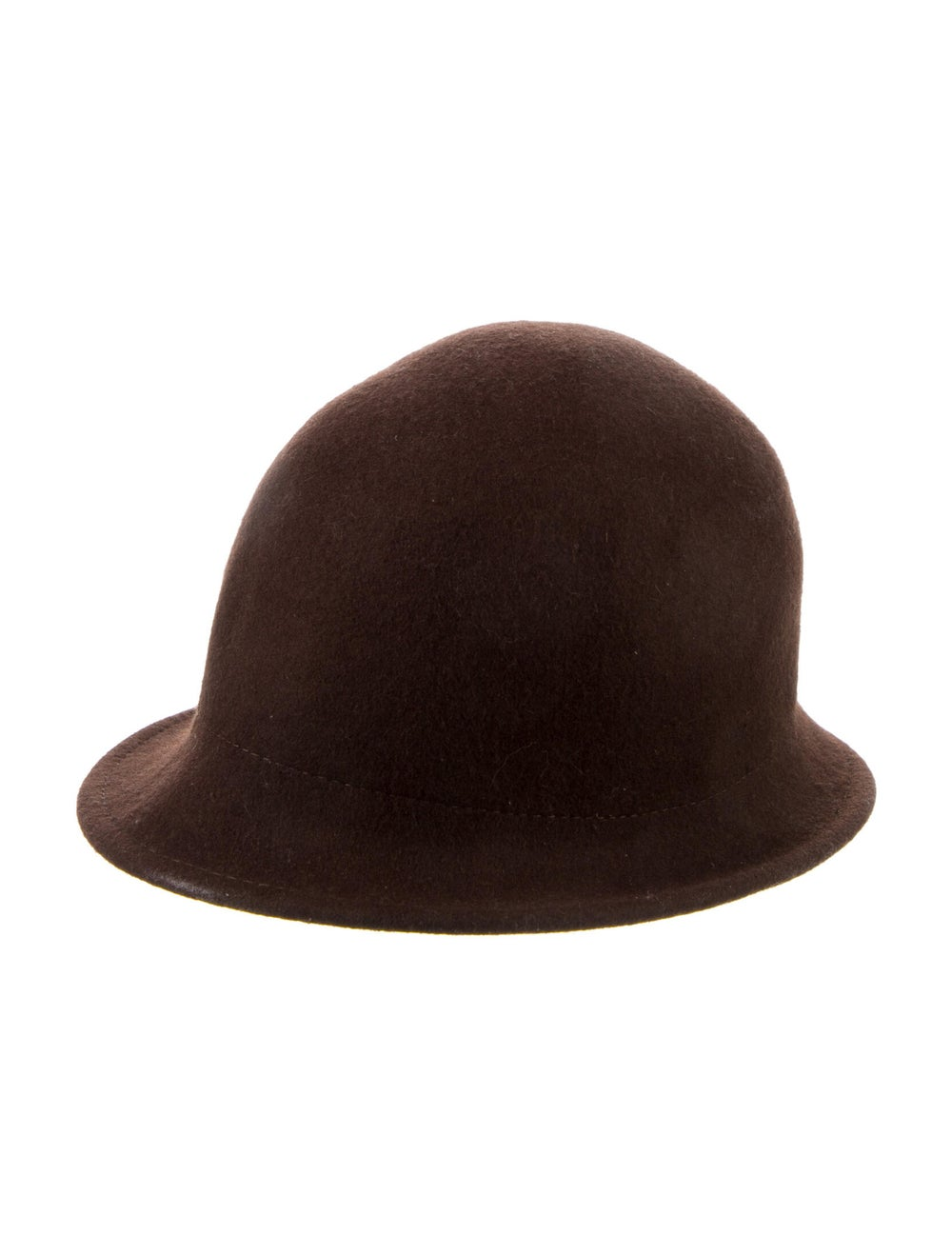 Janessa Leone Wide Brim Wool Hat Black - image 1