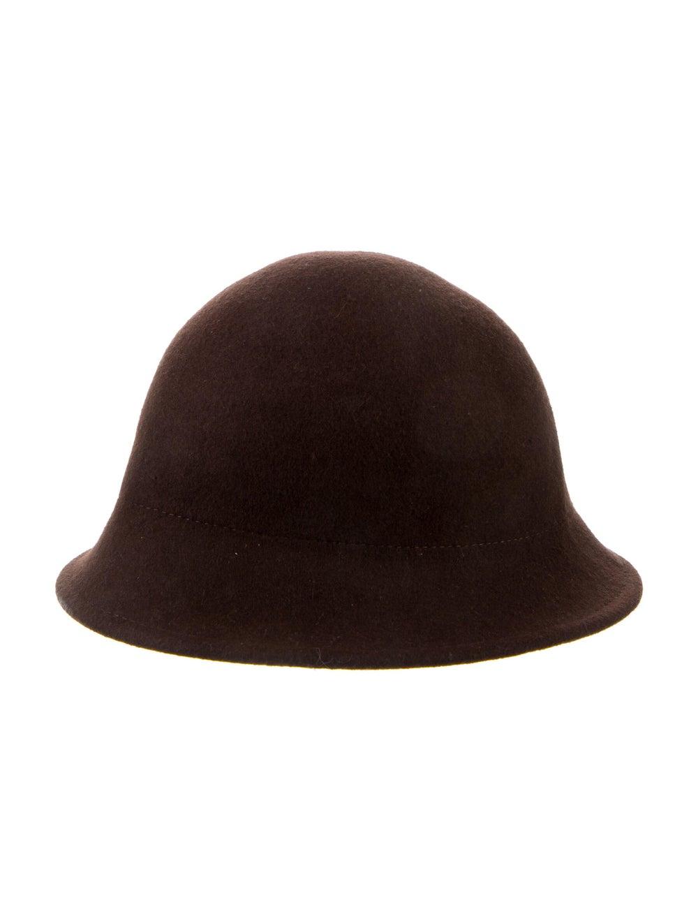 Janessa Leone Wide Brim Wool Hat Black - image 2