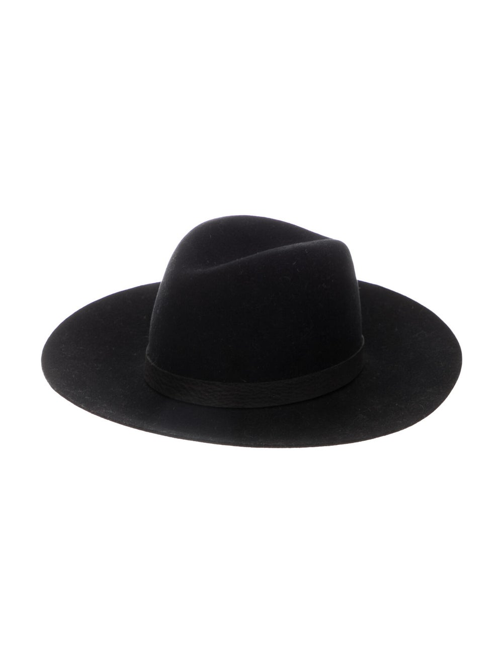 Janessa Leone Wool Fedora Hat Black - image 1