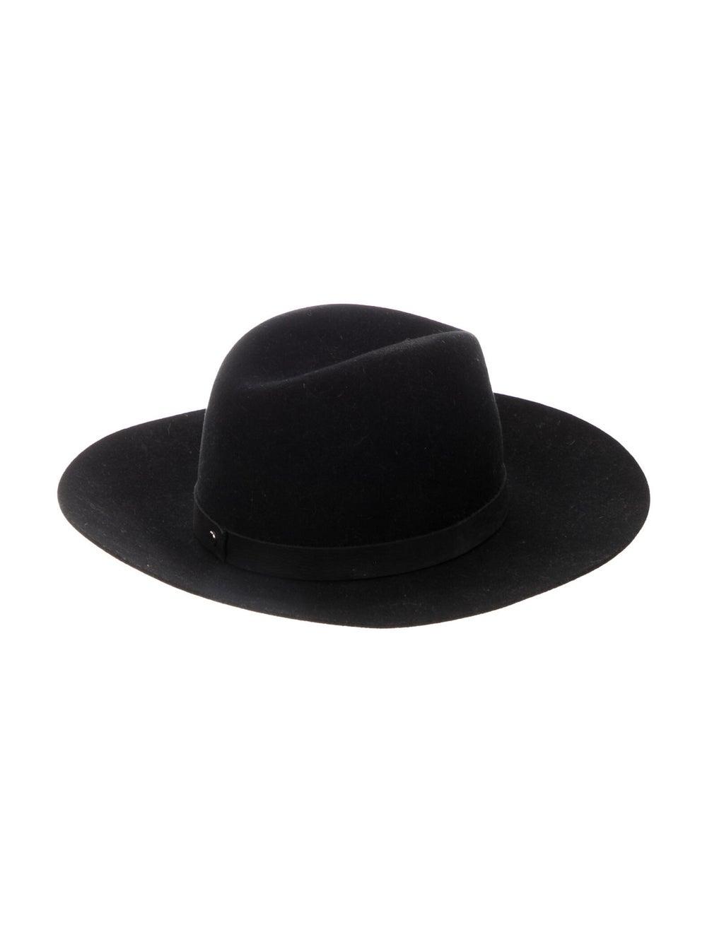 Janessa Leone Wool Fedora Hat Black - image 2