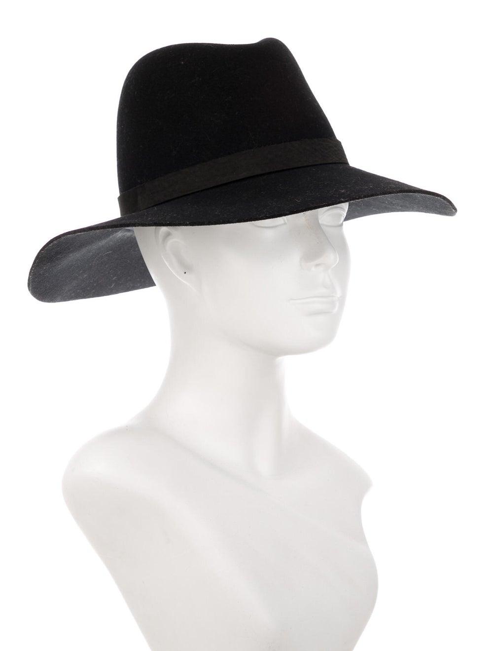 Janessa Leone Wool Fedora Hat Black - image 3