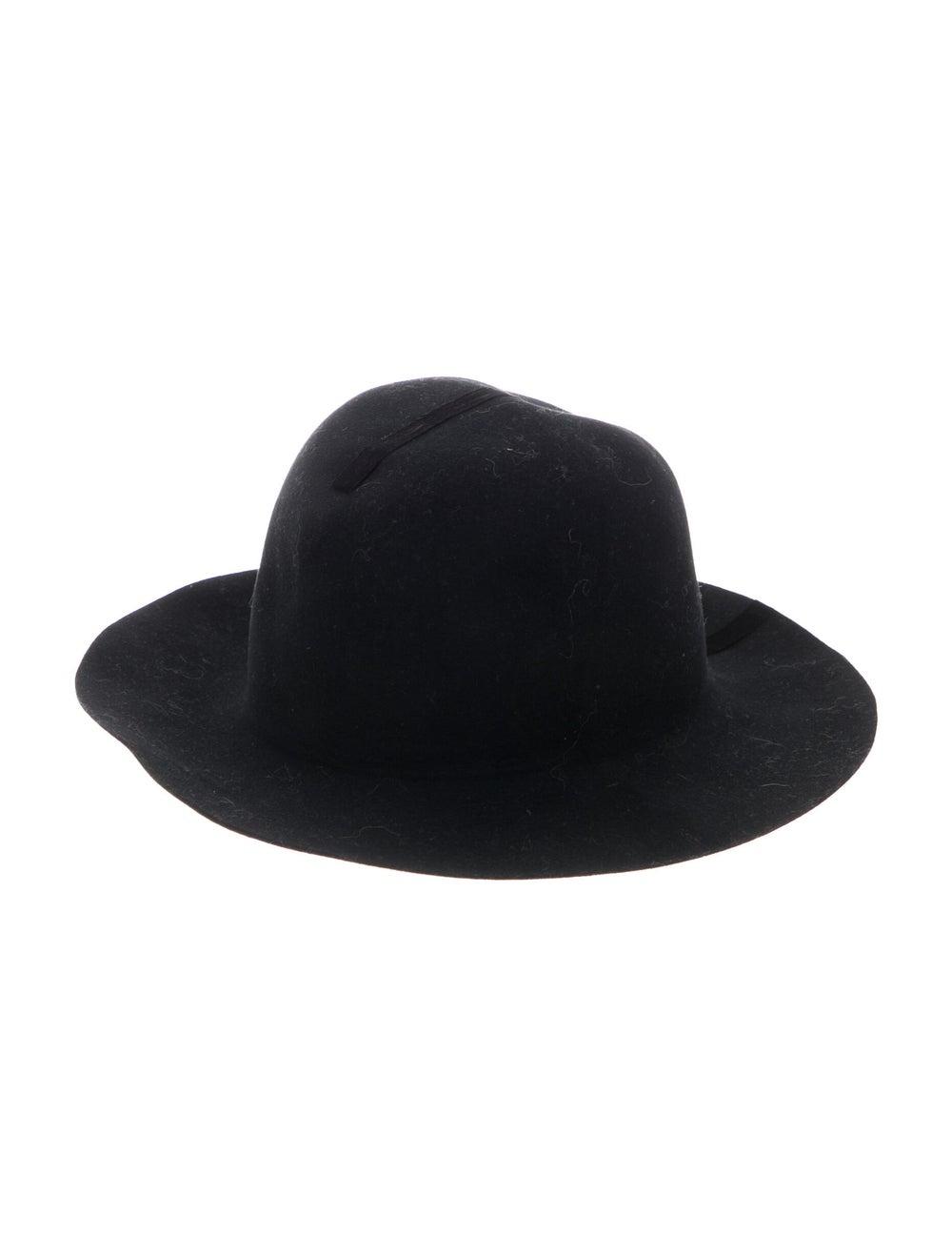 Janessa Leone Wool Wide Brim Hat Black - image 1