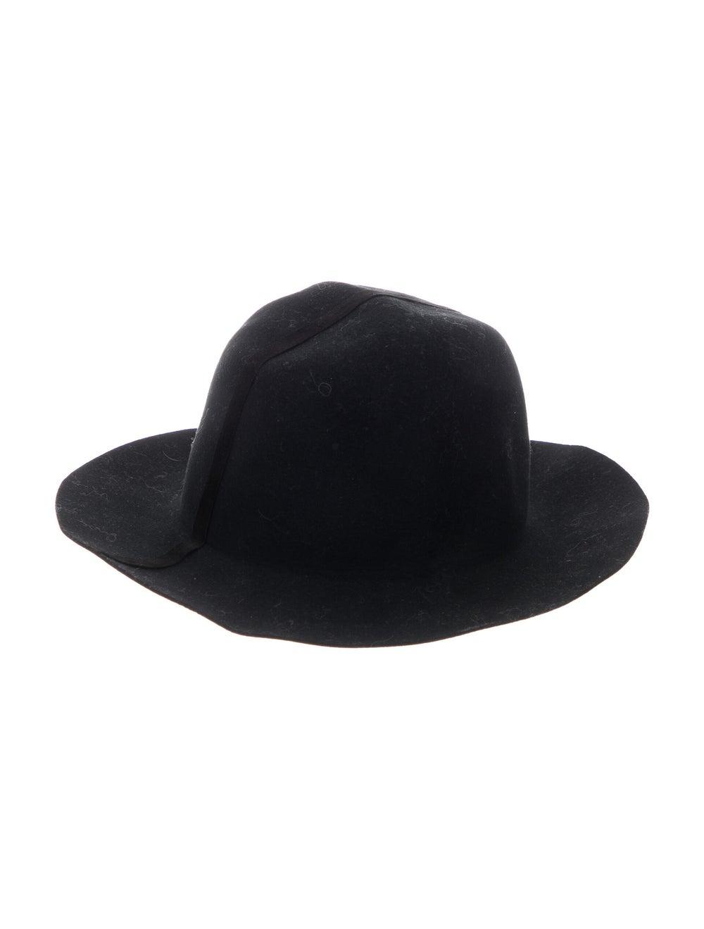 Janessa Leone Wool Wide Brim Hat Black - image 2